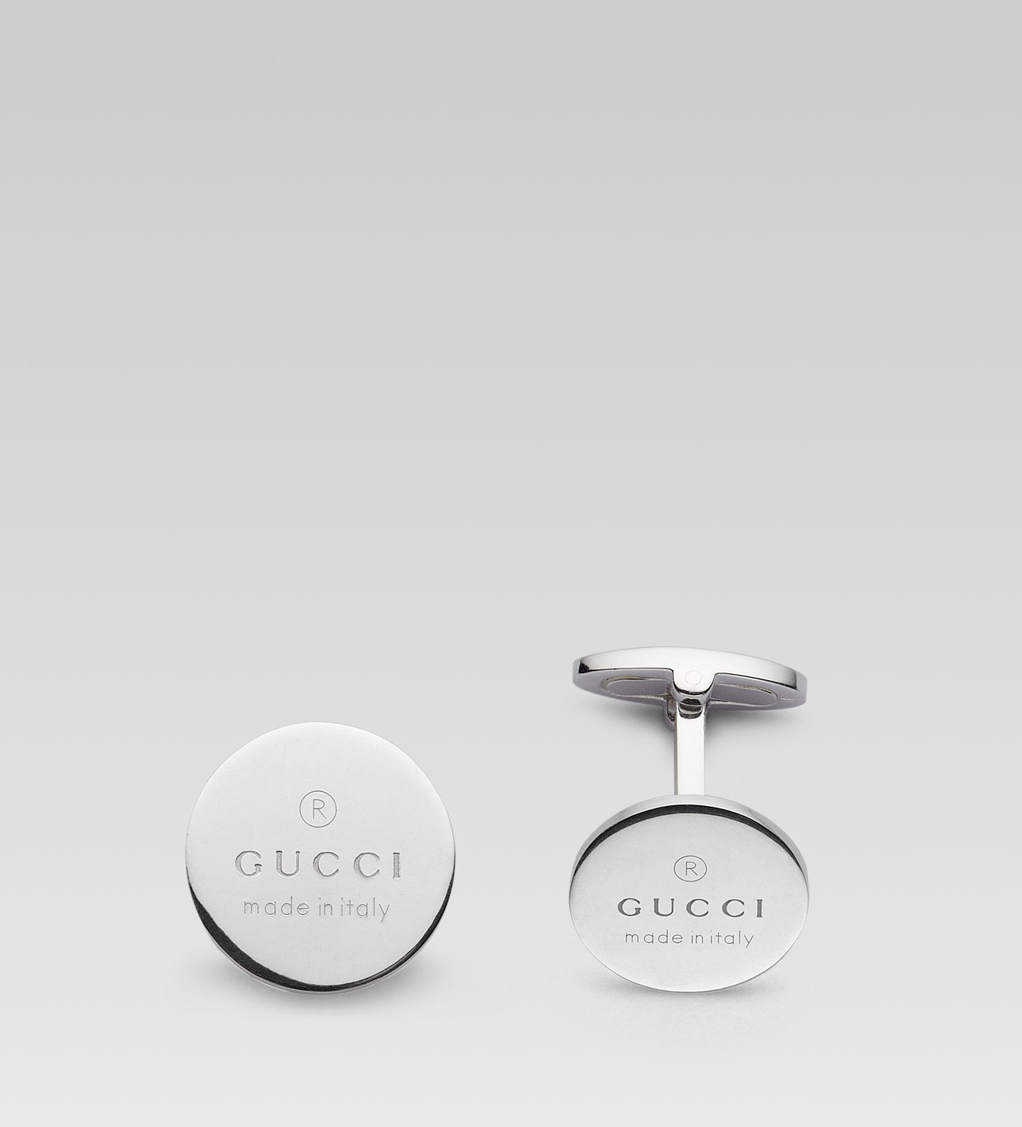 Cufflinks with Gucci trademark
