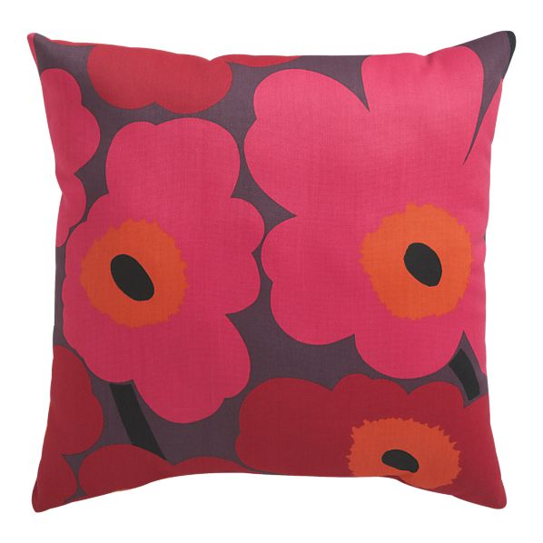 "Marimekko Pieni Unikko II Caliente 20"" Sq. Outdoor Pillow in Mother's Day 