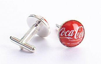 Cuff Links -Coca-Cola-Red - shop.kotik-design.com ($20-50)