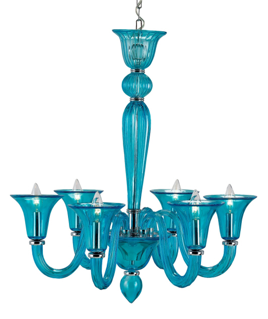 Giustina Chandelier, Blue: Beach Decor, Coastal Home Decor, Nautical Decor, Tropical Island Decor & Beach Cottage Furnishings