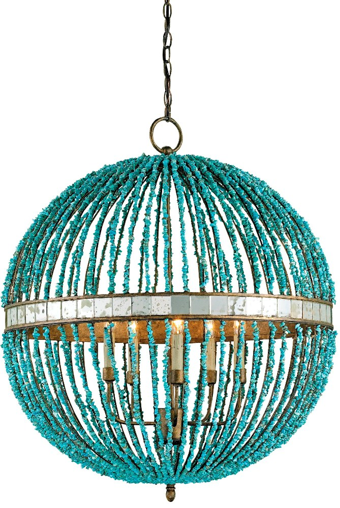 Alberto Orb Chandelier: Beach Decor, Coastal Home Decor, Nautical Decor, Tropical Island Decor & Beach Cottage Furnishings