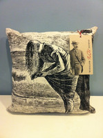 Pillows featuring the etchings of Winslow Homer...