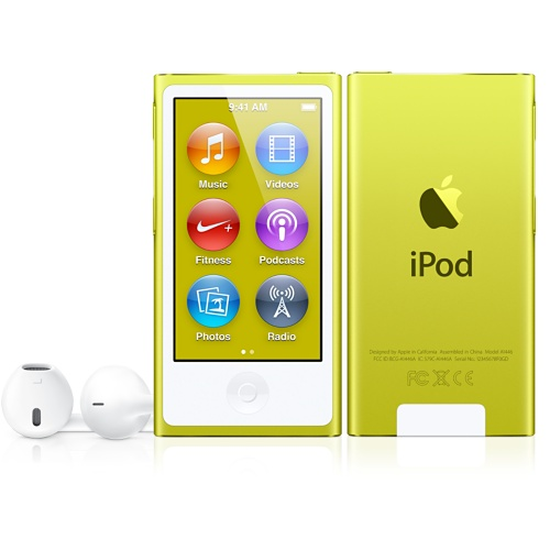 Yellow iPod nano with Multi-Touch