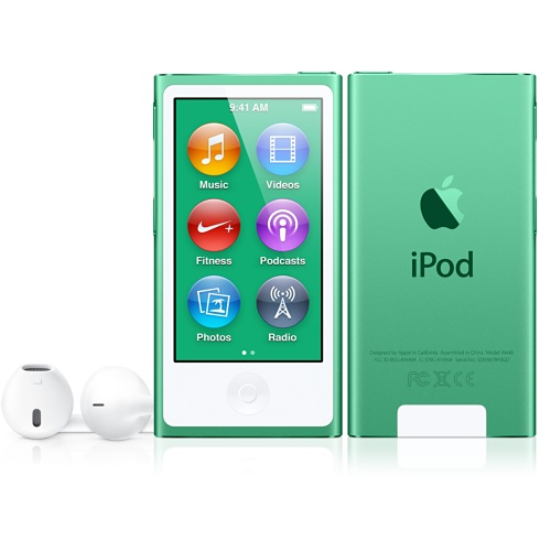 Green iPod nano with Multi-Touch