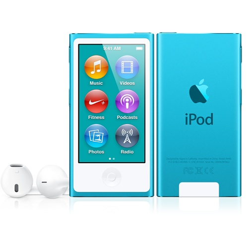Blue iPod nano with Multi-Touch