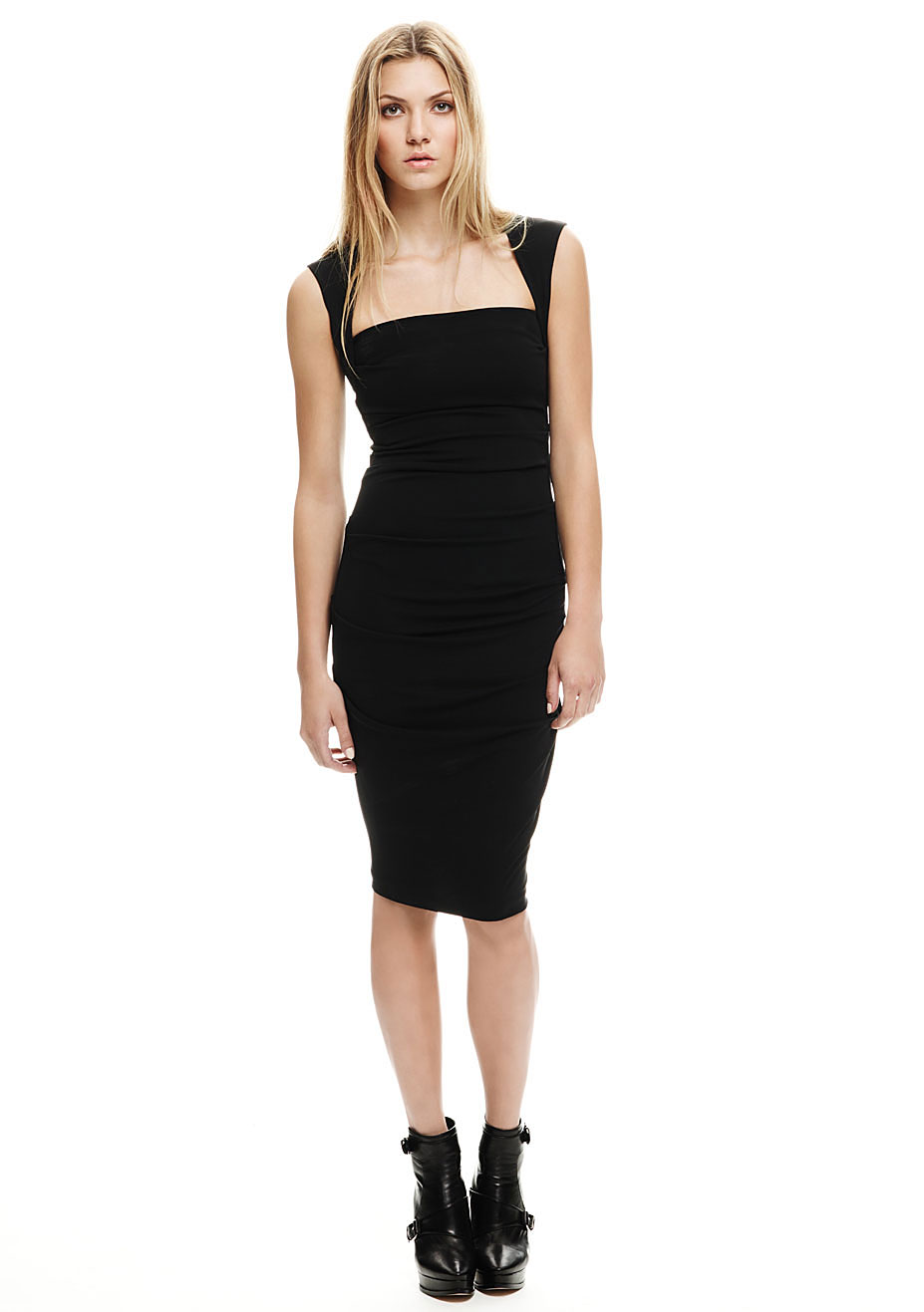Nicole Miller Stretchy Matte Jersey Dress